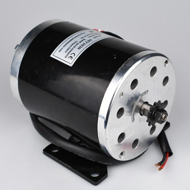 500 watt 24 v 36 v 48VDC Elektrische Roller Brushed Speed Motor 2500 rpm 1.9N.m Elektrische Fahrrad Dreirad Motorrad Motor teile MY1020 - 2
