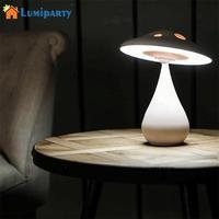 LumiParty USB Chargeable LED Mushroom Night Light Negative Ion Air Cleaner Eye Protection Lamp Stepless Dimming