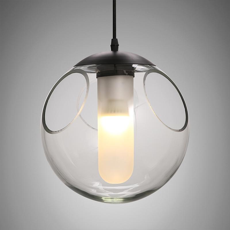 Nordic criativo crianças quarto linha de bola de vidro moderno restaurante bar lustre bolha personalidade única cabeça da lâmpada - 2