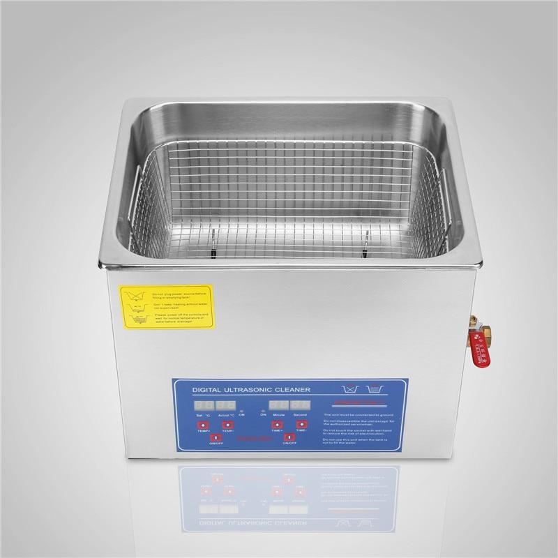 Powerful Stainless Steel 15 L Liters Ultrasonic Cleaner 760W Digital Heater Timer Ultrasonic Cleaner