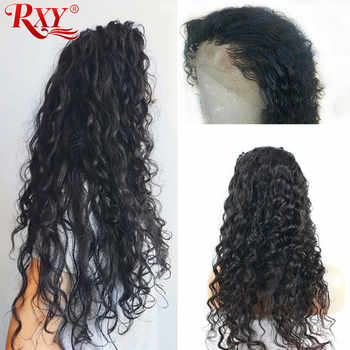 RXY Peruvian Water Wave Wigs Pre Plucked Full Lace Human Hair Wigs With Baby Hair Glueless Full Lace Wigs For Black Women Remy - DISCOUNT ITEM  36% OFF All Category
