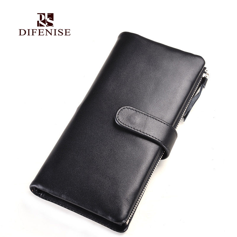Difenise luxury real font b men b font Genuine Nappa leather font b wallet b font
