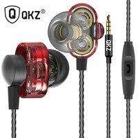QKZ DM8 Earphone Fone De Ouvido Auriculares Audifonos Mini Original Hybrid Dual Dynamic Driver In Ear