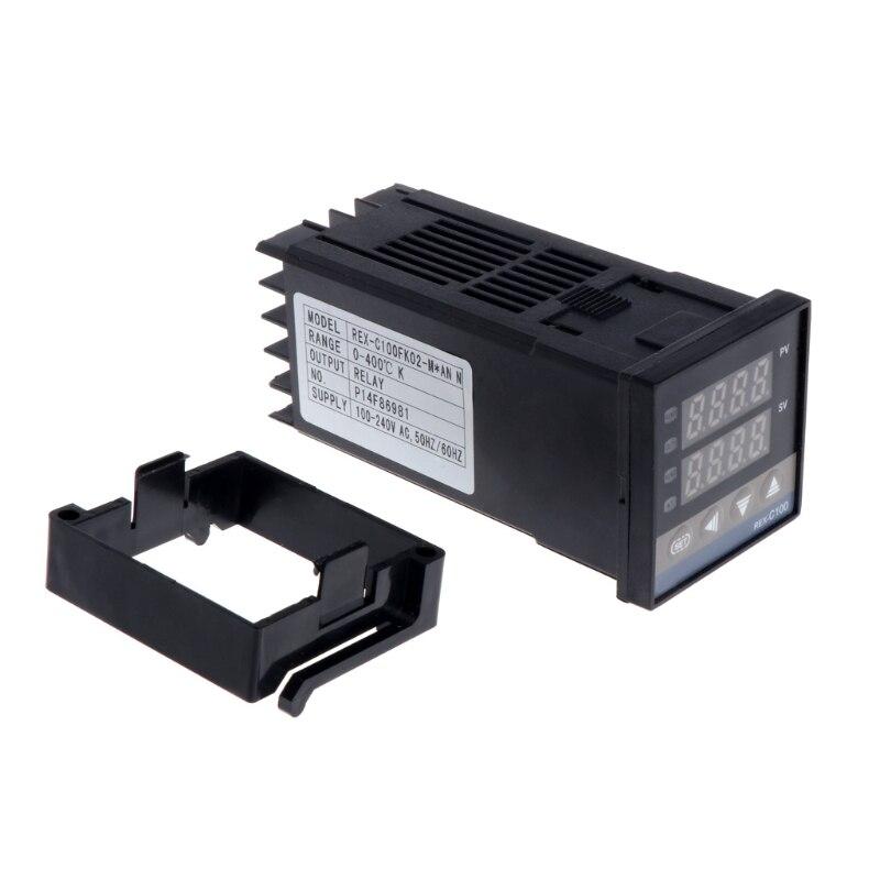 Pid controlador de temperatura digital REX-C100 (m) 0 a 400 graus k tipo saída de relé 100 v-240 v