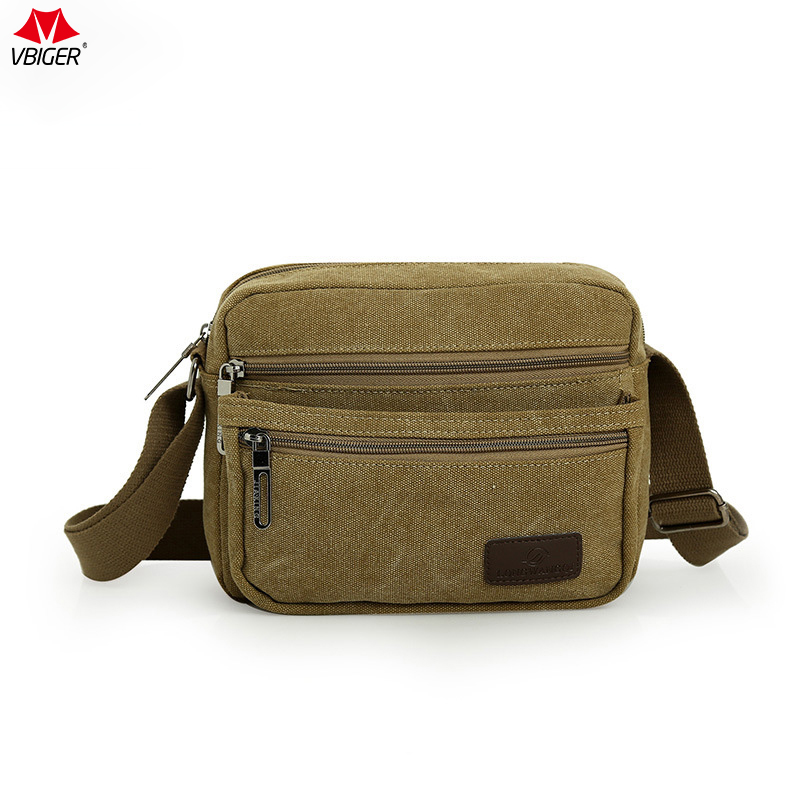 Vbiger Man Shoulder Bag Canvas Cross-body Bag Large Capacity Messenger Bags with Multiple Pockets High Quality Casual Handbags top quality large capacity multifunction canvas bag men vintage cross body shoulder bag casual travel messenger bag wallet bolso