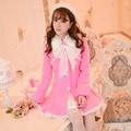 Princess sweet lolita coat Candy Rain Winter new Sweet bowknot agaric long sleeve cloth   slim coat C16CD5980