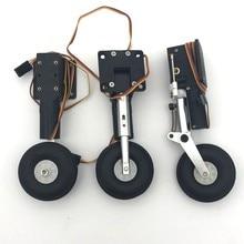 Metalen elektrische intrekken schok geabsorbeerd landingsgestel CNC DIY voor rc vliegtuig model