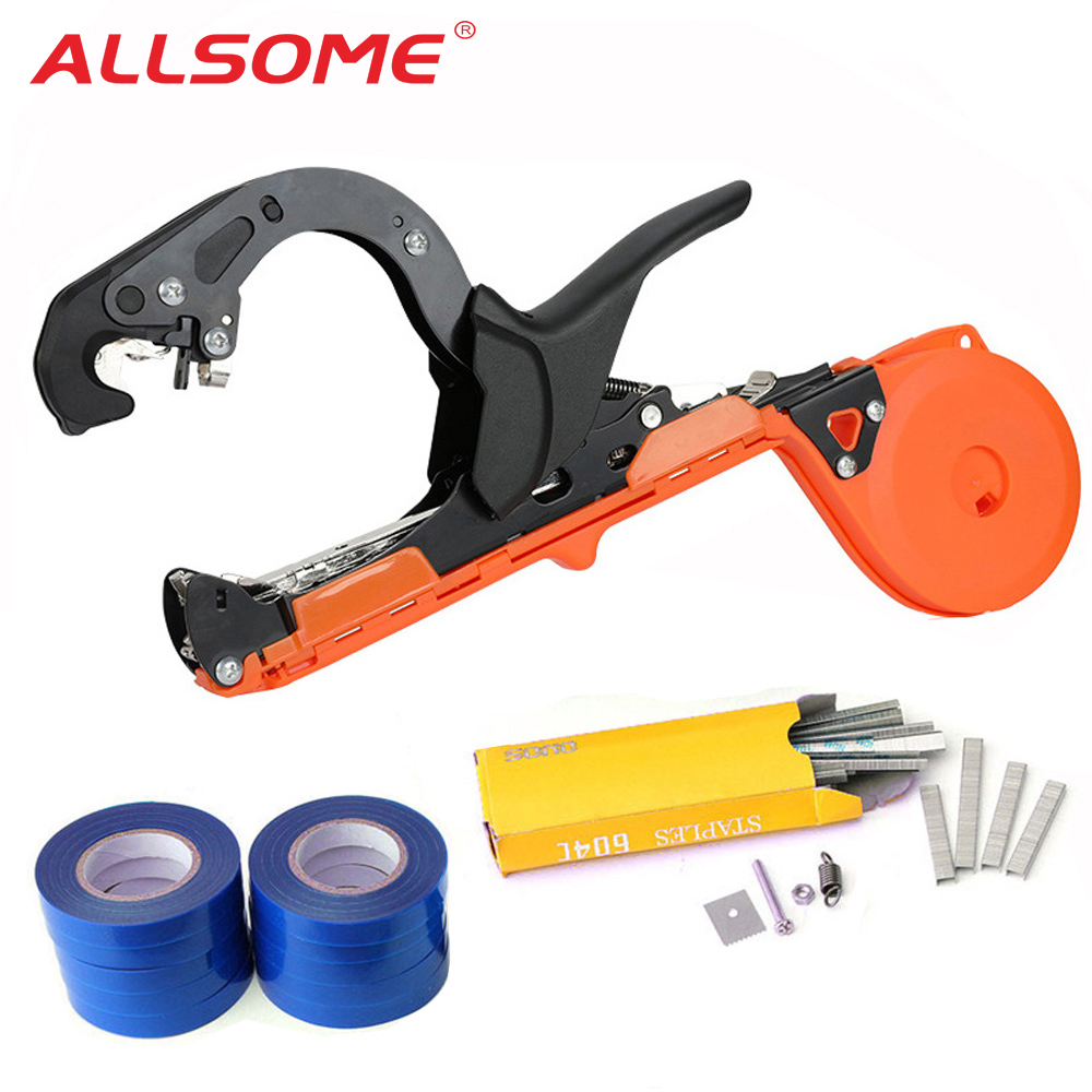 ALLSOME Garden Tools Grafting Set Planting Tying Tapener Machine Branch Hand Machine Tapener Packing Vegetable Stem Strapping