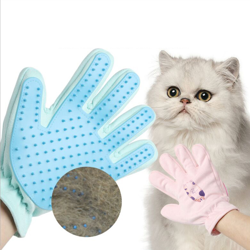 Pet Gloves New Cat Gloves Silicone Soft Buckskin Efficient Beauty Pet Gloves Cat Dog Cleaning Bath Supplies Hair Removal Brush