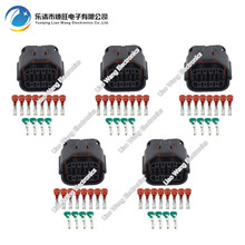 цена на 5 sets 12 Pin waterproof connector female with terminal DJ7121-1.2 / 2.2-21 12P car connector