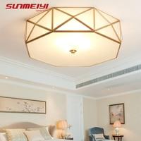 VINTAGE LED เพดานไฟ E27 ทองแดงบ้านสำหรับห้องนั่งเล่นห้องรับประทานอาหาร lamparas LED de techo moderna ตกแต่ง|ceiling lights|ceiling lights e27light for living room -
