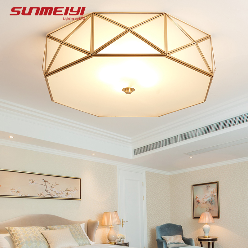 Vintage LED Ceiling Lights E27 Copper Home Lighting For Living room Dining room lamparas led de techo moderna decorationVintage LED Ceiling Lights E27 Copper Home Lighting For Living room Dining room lamparas led de techo moderna decoration