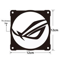 3pcs/lot DIY 12cm*12cm Fan Cover Aluminum use for 120mm Radiator with Cool Logo Computer Case Cooling