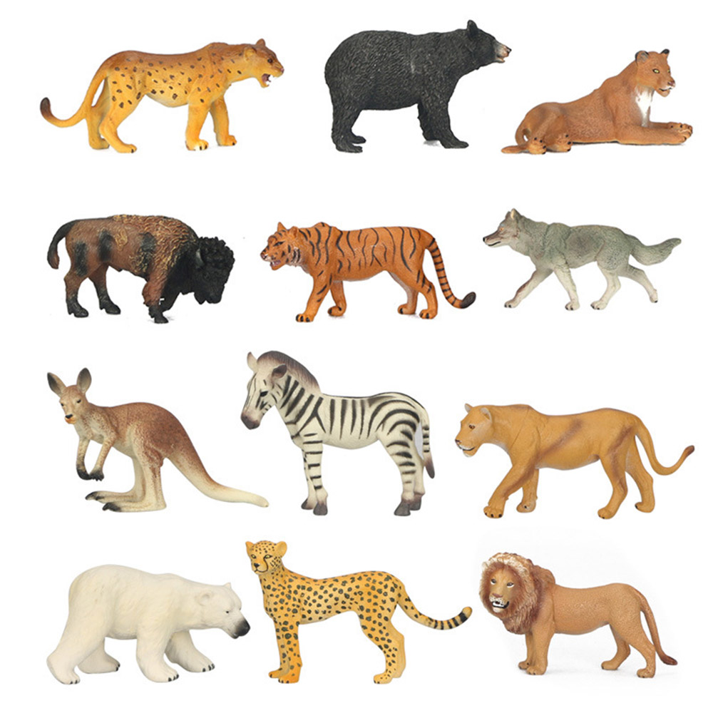 Wildlife Model Children Simulation Toys Pinata Lion Tiger