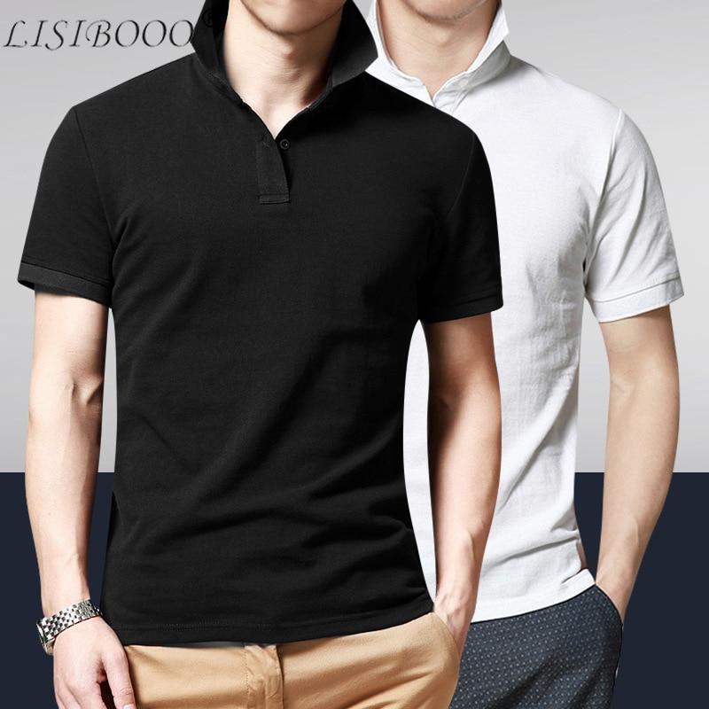 Summer Style Mens Short Sleeve   Polo   Shirt Mens Casual   Polo   Shirt Mens Clothing Short Sleeve Solid Top   Polo   Shirt Chemise   Polo