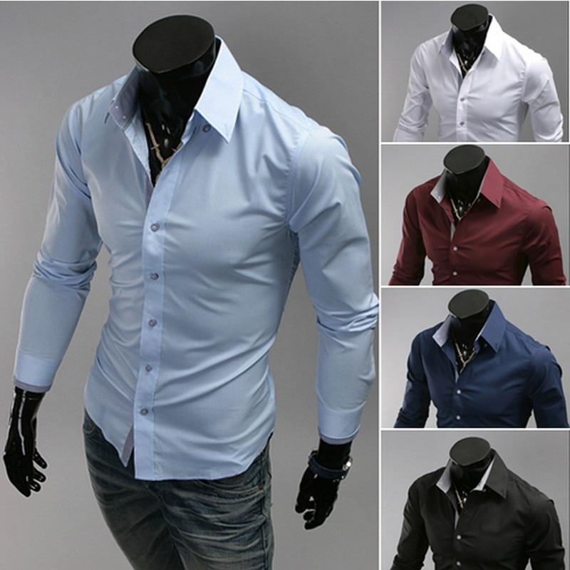 camisa de negocio hombres ocasional de larga salvaje manera color la XXXL de de camisa camisa de manga Delgada M Caliente en los los hombres 2016 de tamaño qUYfOO