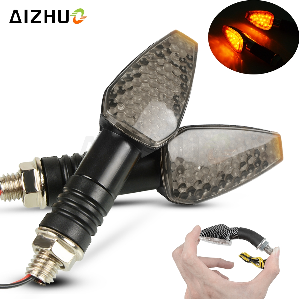 Motorcycle Turn Signal Light 12V LED Indicators Blinker Lamp For KAWASAKI VERSYS 300 Z750 Z800 ZX6R NINJA 250R ER5 Z750 Z800 ZX