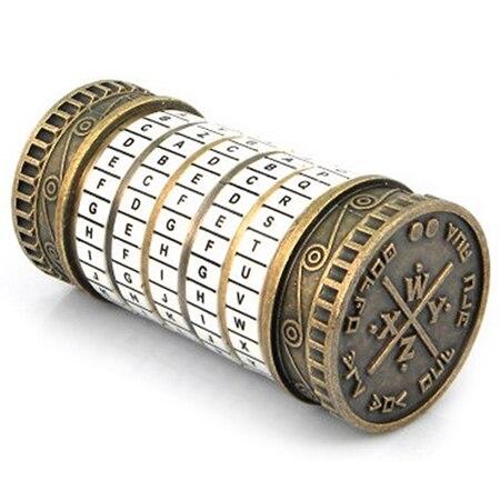 Cryptex rétro cadeaux d'anniversaire créatifs Da Vinci Code serrure Mini Da Vinci Code Cryptex serrure jouet puzzle innovant cadeau