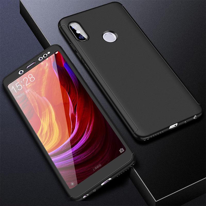 360 полный защитный чехол для телефона для Redmi Note7 note8 8A 7A для Xiaomi A3 Lite A2lite противоударный полный чехол s со стеклянной пленкой - Цвет: Черный