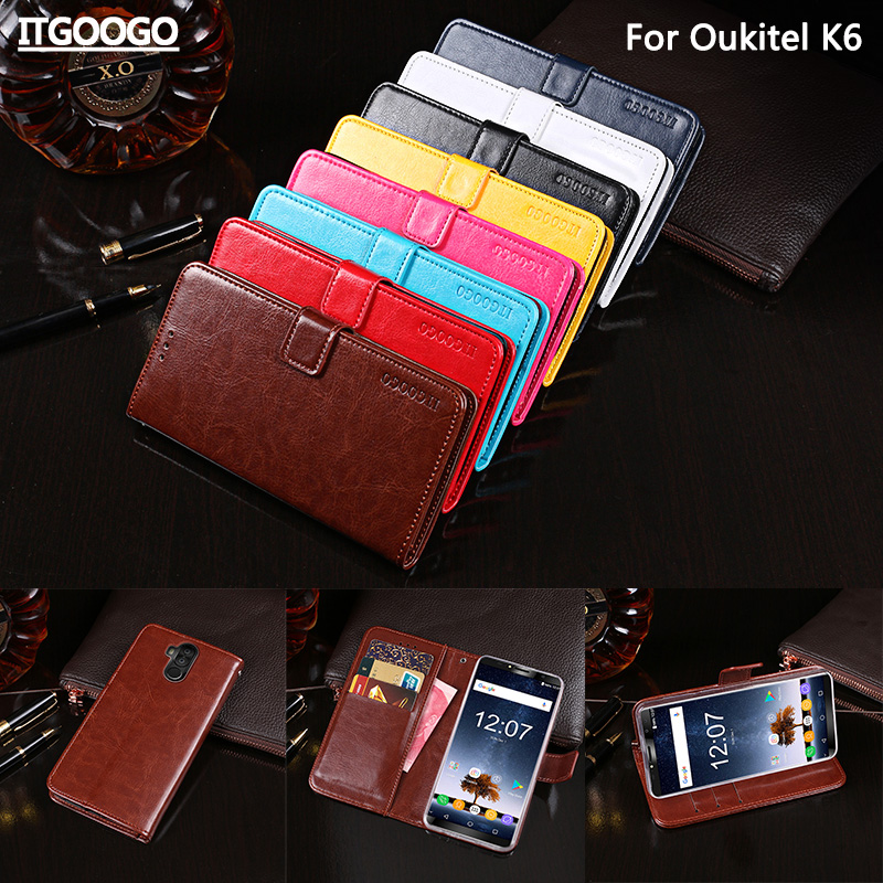 Oukitel K6 Case Cover Luxury Leather Flip Case For Oukitel K6 Protective Phone Case Back Cover Wallet Case