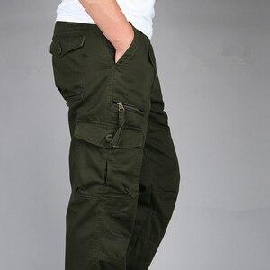 Image 5 - ICPANS 2019 Tactical Pants Men Military Army Black Cotton ix9 Zipper Streetwear Autumn Overalls Cargo Pants Men military style