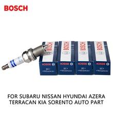 4 шт./компл. Bosch дважды платиновым свечи зажигания автомобиля fr7kpp33 U + для Subaru Nissan Hyundai Azera Terracan Kia Sorento авто часть