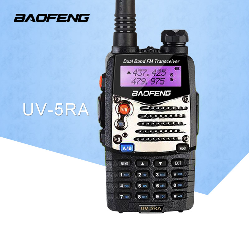 (1 ცალი) Baofeng UV5RA Ham Two Way Radio Dual-Band 136-174 / 400-520 MHz baofeng uv-5ra walkie talkie რადიო გადამცემი შავი