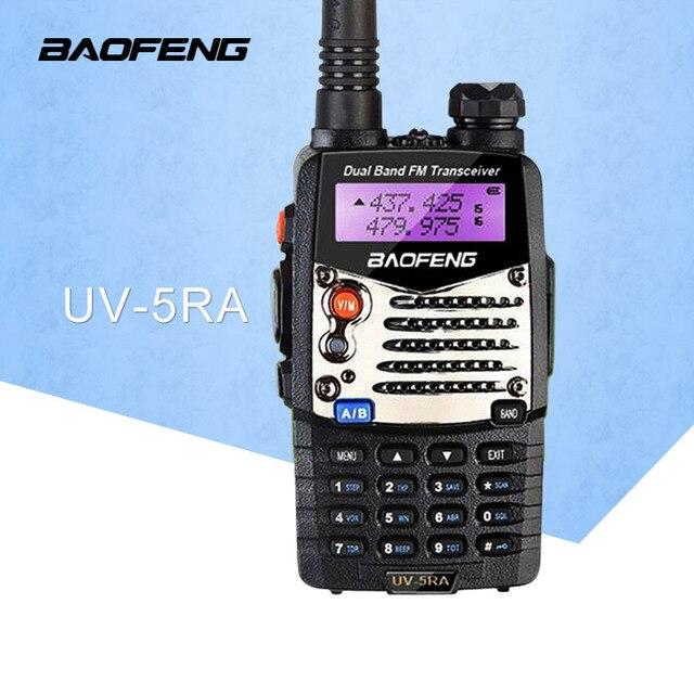(1 pcs) baofeng uv5ra 햄 양방향 라디오 듀얼 밴드 136 174/400 520 mhz baofeng UV 5RA 워키 토키 라디오 트랜시버 블랙