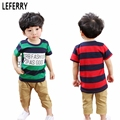 2017 New Summer Kids Boys Clothes Baby Boy Clothings Set Children Clothing Toddler Boys Clothing Stripped outfits sport suit