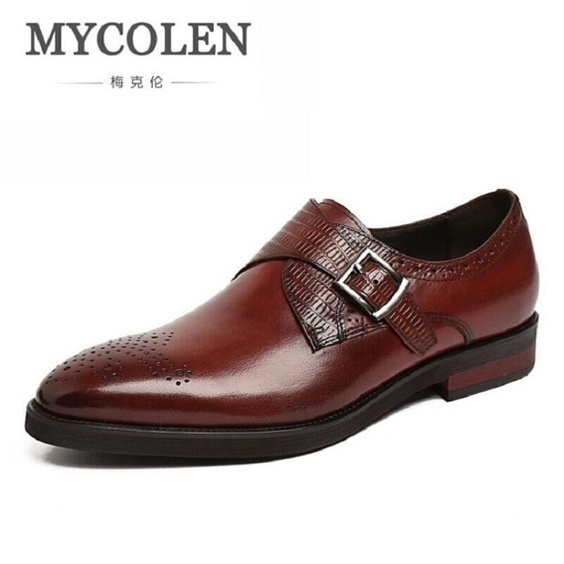 MYCOLEN Leather Men Shoes Casual Top Formal Business Male Wedding Dress Flats Top Quality British Fashion Mens Formal Shoes 2017 men shoes fashion genuine leather oxfords shoes men s flats lace up men dress shoes spring autumn hombre wedding sapatos