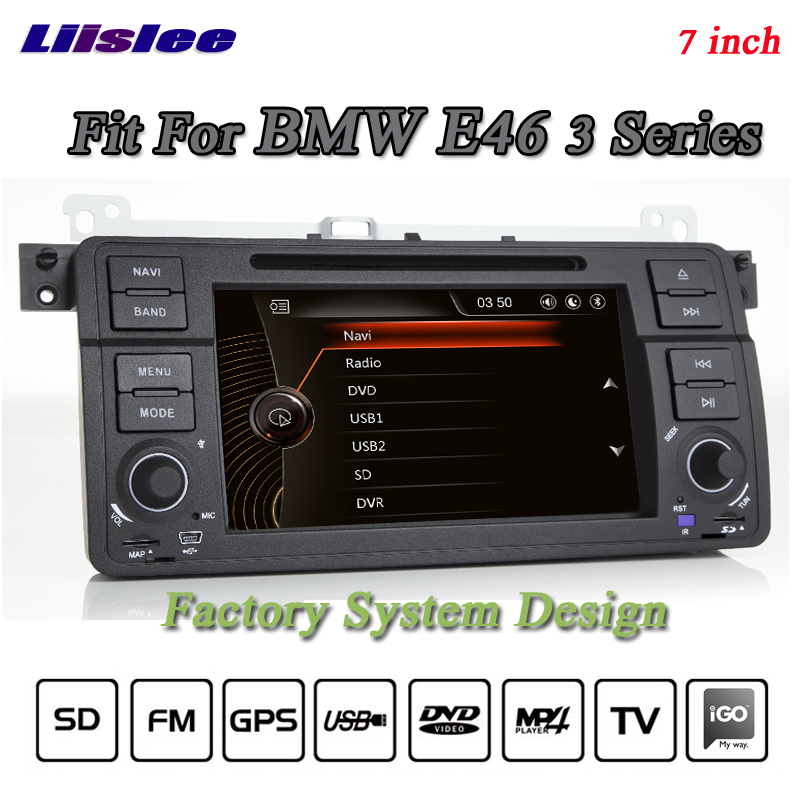 Liislee For BMW 3 E46 318 320 M3 Stereo Radio 3G Canbus DVD Player GPS MAP Navigation 1080P HD Screen System Original NAV Design