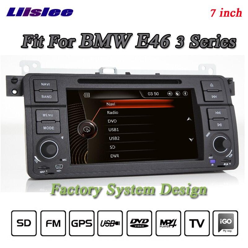 Liislee pour BMW 3 E46 318 320 M3 Radio stéréo 3G Canbus BT lecteur DVD GPS carte Navigation 1080 P HD système d'écran d'origine NAVI