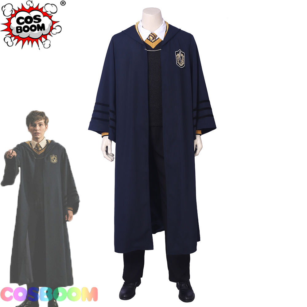 COSBOOM Fantastic Beasts The Crimes of Grindelwald Young Newt Scamander School Uniform Cosplay Halloween Newt Scamander Costume