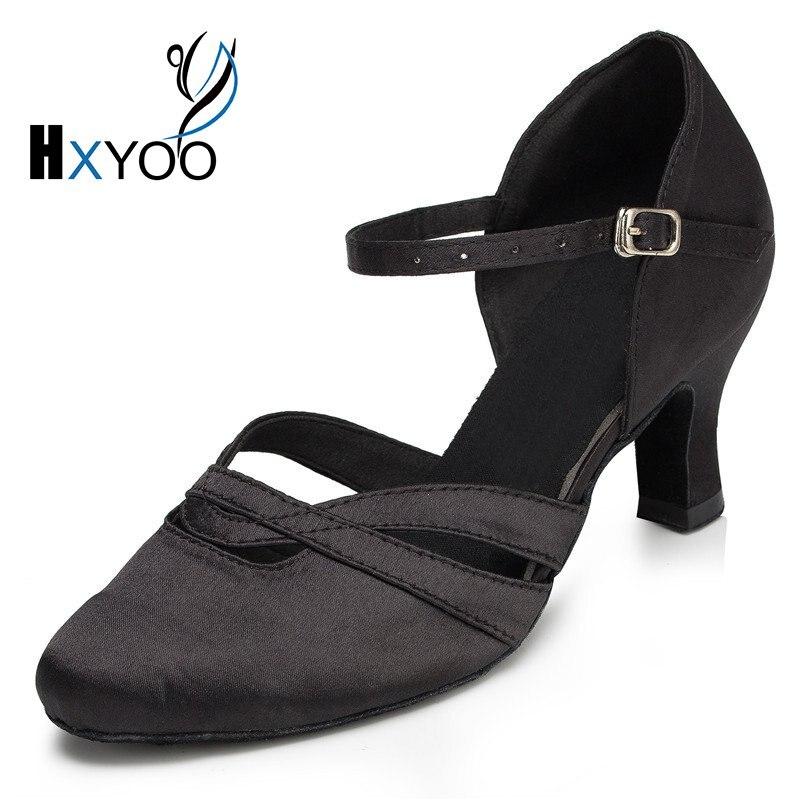 misu - Zapatillas de danza de Satén para mujer multicolor negro/dorado, color multicolor, talla 43,5