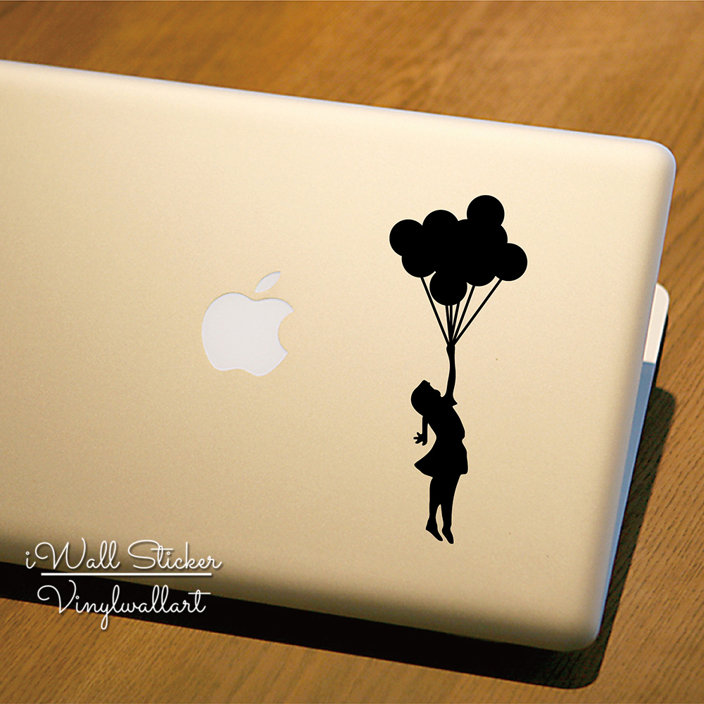 Girl Balloon Computer Sticker Personal Computer Decal DIY Girl Modern Decors Cut Vinyl S ...