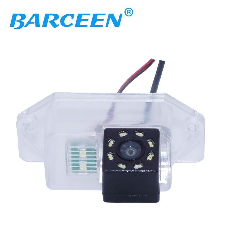 Hd ccd capteur d'image 8 led higest nuit vision voiture caméra de recul antichoc adapté pour Mitsubishi Lancer