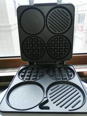 Multi-Functional Waffle Maker Breakfast Machine Four-Hole Muffin Machine Egg Frying Pan Pancake Machine SW-289HW
