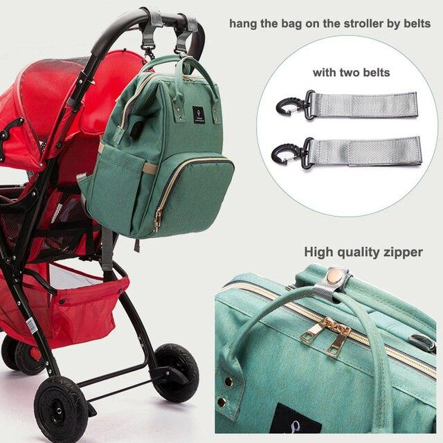 2018 Baby Diaper Bag With USB Interface Large Capacity Waterproof Nappy Bag Kits Mummy Maternity Travel Backpack Nursing Handbag 3