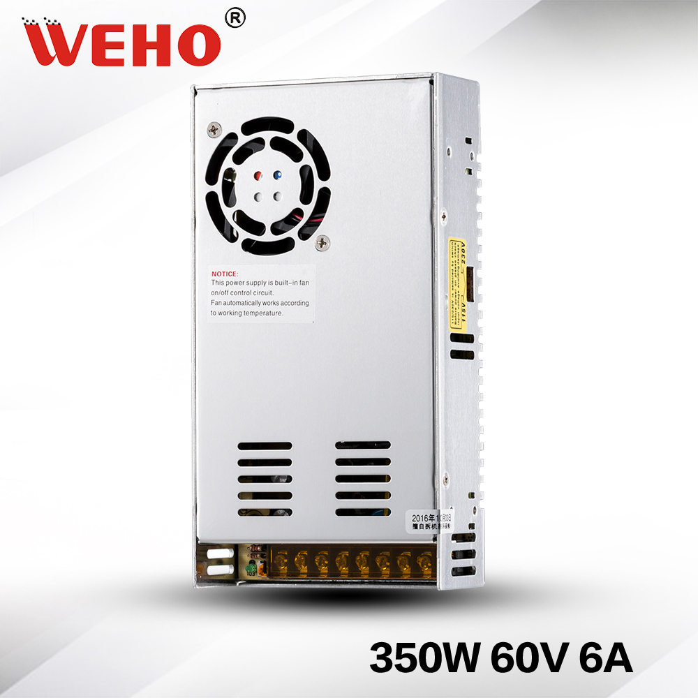 (S-350-60) Constant voltage 60v 350w dc switching power supply 60v Led power supply 350w 20pcs 350w 12v 29a power supply 12v 29a 350w ac dc 100 240v s 350 12 dc12v