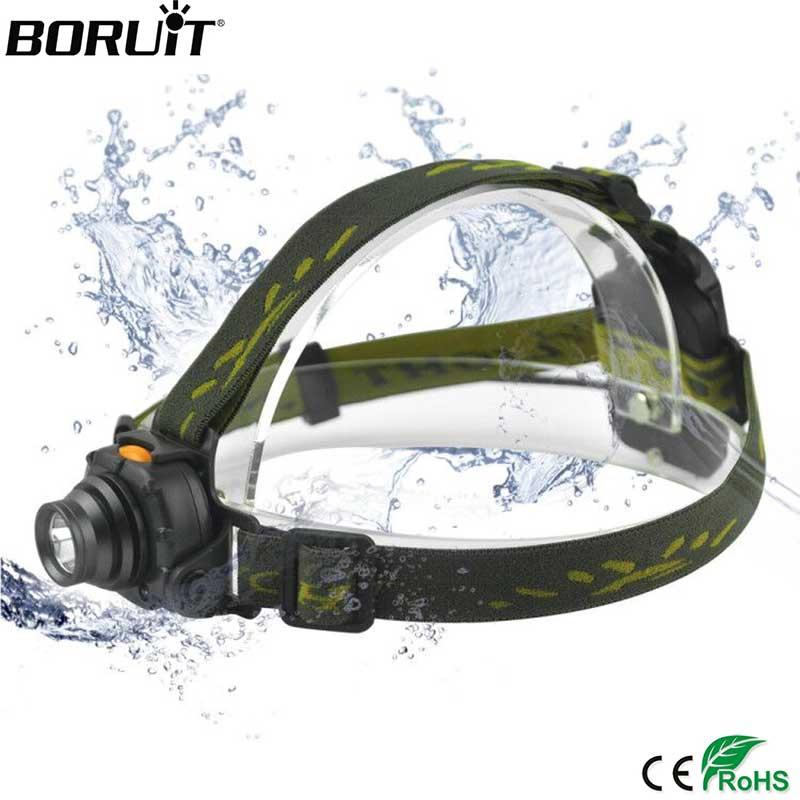 BORUIT 2000LM XPE LED Mini Reflektor Czujnik podczerwieni 3 Tryby - Przenośne oświetlenie