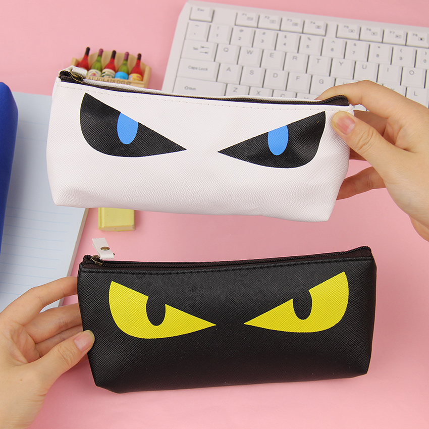 1 Pc Neue Nette Kawaii Katze Bleistift Fall Pu Leder Stift Tasche Für Kits Student Geschenk Koreanische Schreibwaren