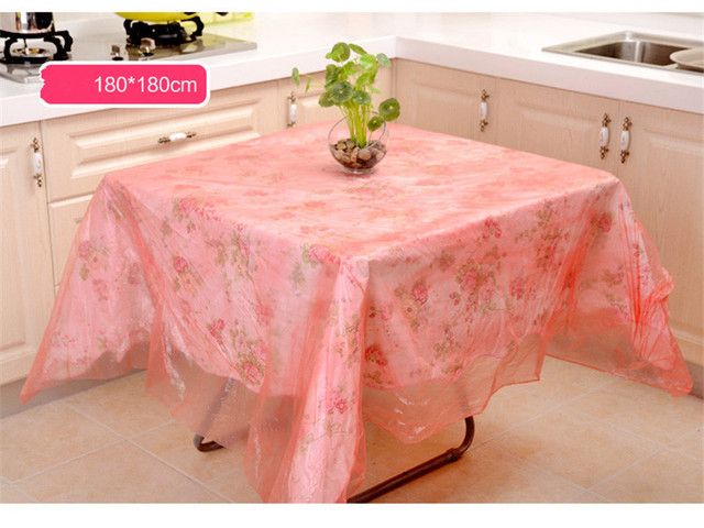 10pcs Pe Disposable Tablecloths Thicken Hotel Banquet High Quality Wedding Table Cloth Plastic