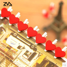 10 pcs/lot Cute mini Love Heart spring Wood Clip Photo Clips For Clothespin Craft Clips Party decoration Clip with Hemp Rope 30pcs box cute fox chicken wooden clip photo paper clothespin craft clips party decoration clip with hemp rope