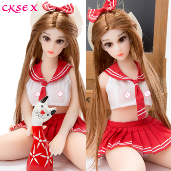 CKSex 65cm Anime TPE Love Doll Famale Sex Doll for Men with Mini Realistic Breast Ass Real Touch Feeling Silicone Sex Dolls