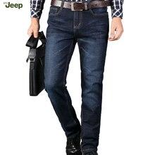 АФН JEEP Новый Список 2016 рок джинсы мужские Случайные джип джинсы мужские Классические прямые мужские джинсовые брюки Большой Размер 28-44 63