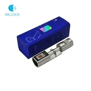 Image 5 - Cerradura de puerta inteligente con cilindro electrónico, pequeña cerradura de puerta con cilindro Digital, con Bluetooth, para el hogar
