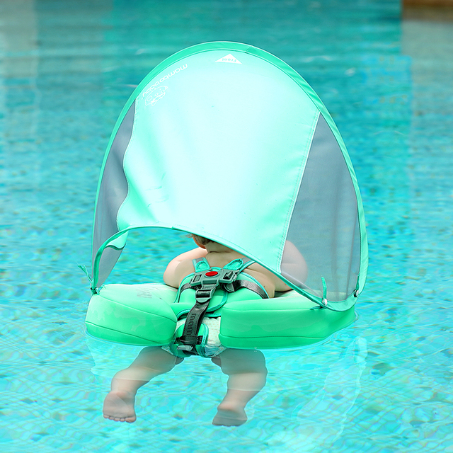 Solid Non-inflatable Baby Swimming Ring floating Float Lying Swimming Pool Toys Bathtub For accessories Swim Trainer Sunshade 1