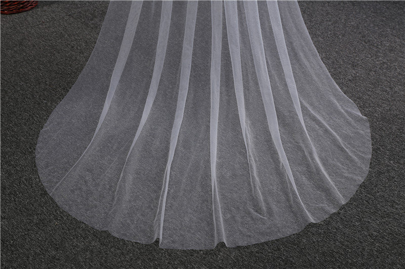 Fashion Wedding Accessories 3 Meters 1 Layer Wedding Veil White Ivory Simple Bridal Veil With Comb