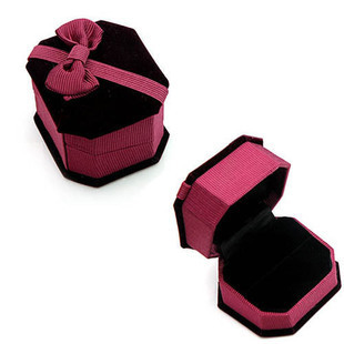 Quality flock printing jewelry box gift box crystal accessories packaging box stud earring ring box