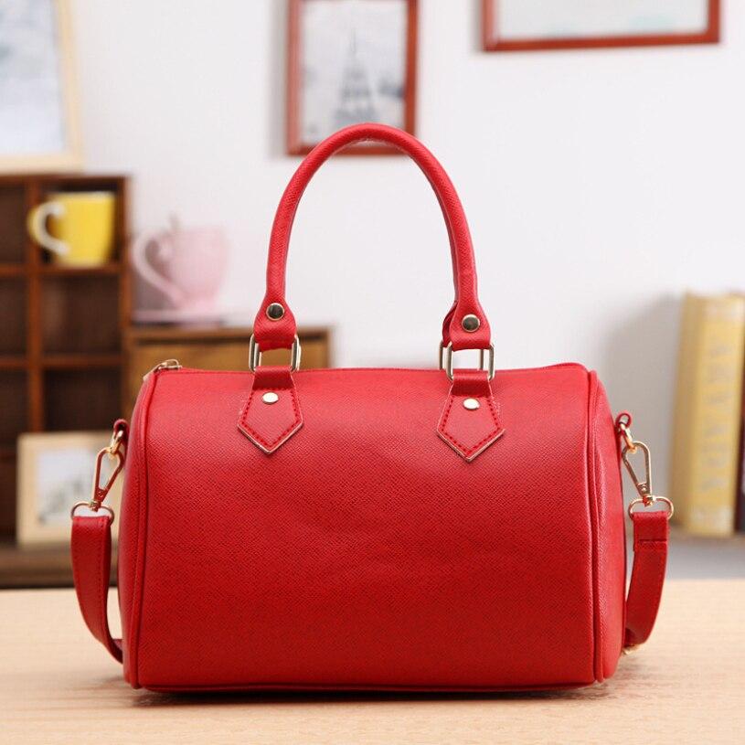 ddaae20b6c7c /Шт Брендовая сумка через плечо messenger 2017 женская сумка на плечо сумка-тоут  sacoche Femme кожа Хобо белый красный лиловый черный Bolsas 45Нам $18.16